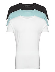 STRETCH CN TEE SS 3PACK - BLACK/SUMIT/WHITE