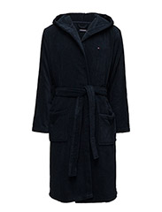 Icon hooded bathrobe - NAVY BLAZER-PT
