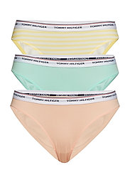 3P BIKINI STRIPE PRINT - LEMON MERINGUE/PALE BLUSH/YUCC