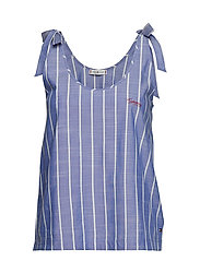 Tommy Hilfiger TANK STRIPE - GRAY DAWN