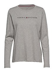 CN TEE LS LOGO - GREY HEATHER