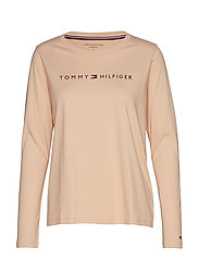 CN TEE LS LOGO - TOASTED ALMOND