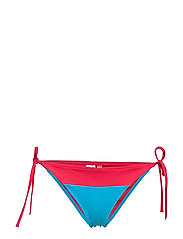 CHEEKY STRING SIDE TIE BIKINI - LASER PINK 103-580