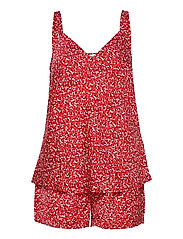CAMI SHORT SET PRINT - PRIMARY RED