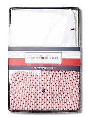 Tommy Hilfiger - CAMI SHORT SET POINTELLE - pyjama''s - white/primary red - 2