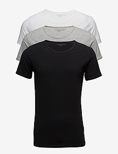 Cn tee ss 3 pack pre - black / grey heather bc05 / wh