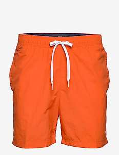 SF MEDIUM DRAWSTRING - swim shorts - danger orange