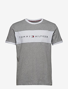 CN SS TEE LOGO FLAG - GREY HEATHER