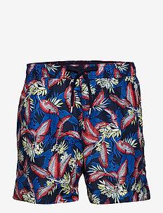 MEDIUM DRAWSTRING, 6 - swim shorts - tropic leaf navy blazer