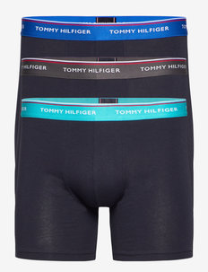 3P WB BOXER BRIEF - boxershorts - dark ash/aquatic teal/electric