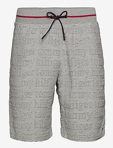 JERSEY SHORT LOGO - casual shorts - grey heather