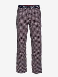 WOVEN PANT PRINT - doły - navy blazer
