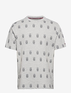 CN SS TEE ALL OVER P - pyjamas - grey heather
