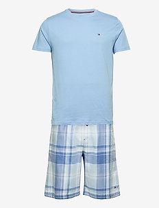 CN SS SHORT WOVEN SET CHECK - pyjamas - cornflower blue /cashmere blue