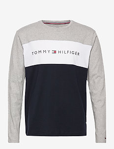 CN LS TEE LOGO FLAG - langermede t-skjorter - mid grey heather