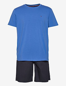 CN SS SHORT WOVEN SET - pyjamas - electric blue/desert sky