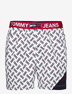 SF MEDIUM DRAWSTRING-PRINT - casual shorts - tommy jeans logo aop white