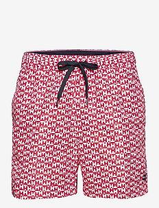 MEDIUM DRAWSTRING-PRINT - shorts de bain - th mono geo red