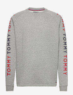 TRACK TOP - t-shirts à manches longues - medium grey heather