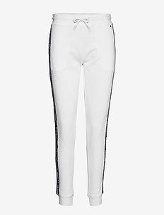 TRACK PANT HWK - bottoms - pvh classic white