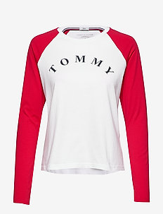 LS TEE SLOGAN - long-sleeved tops - pvh classic white