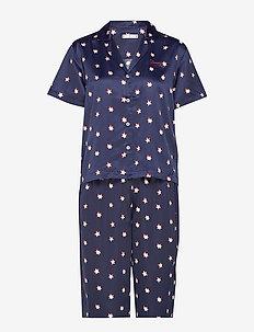 WOVEN SET SS PRINT, - pyjamas - navy blazer