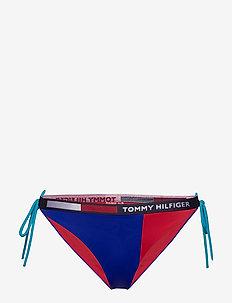 CHEEKY STRING SIDE TIE BIKINI - bikini bottoms - cobalt
