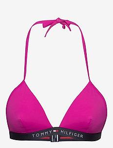 TRIANGLE FIXED - góry strojów kąpielowych - pink glo