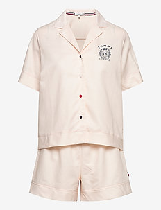 SS SHORT SET LINEN - pyjamas - angel wing 11-1305