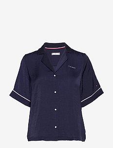SS TOP WOVEN - overdele - navy blazer