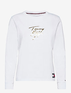 LS TEE GOLD - long-sleeved tops - white