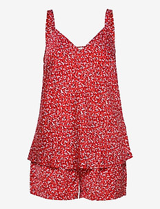 CAMI SHORT SET PRINT - pyjama''s - primary red