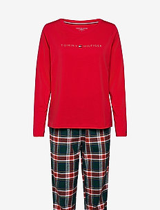 SET LS FLANNEL PANT HOLIDAY - pyjamas - primary red/cypress green