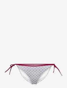 STRING SIDE TIE - bikini z wiązaniami po bokach - flag aop white