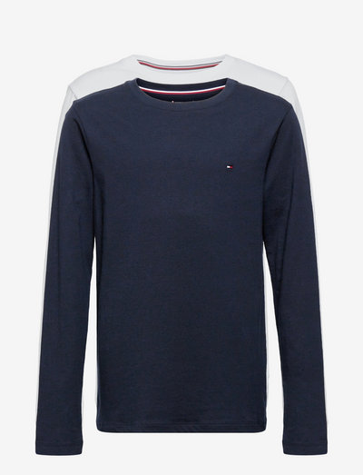 2P CN TEE LS - long-sleeved t-shirts - desert sky/white