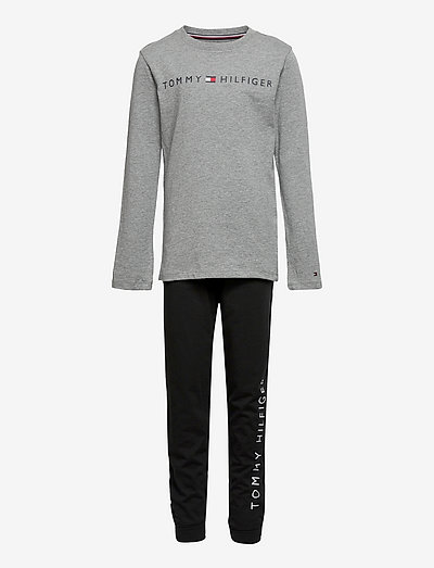BASIC LS PANT JERSEY SET - sets - medium grey ht/black