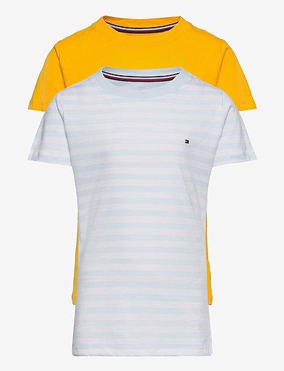 2P CN TEE SS STRIPES - kortærmede - luminous blue/primary yellow