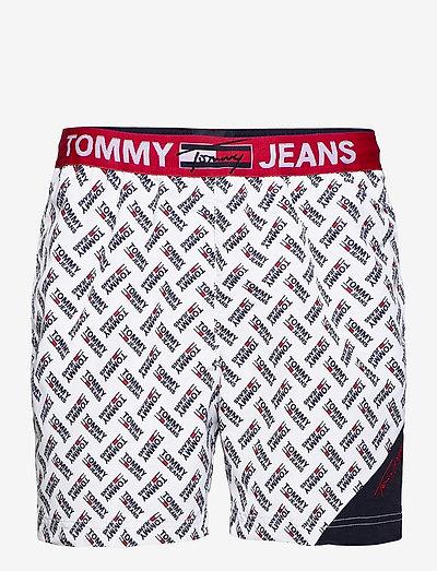 SF MEDIUM DRAWSTRING-PRINT - shorts de bain - tommy jeans logo aop white