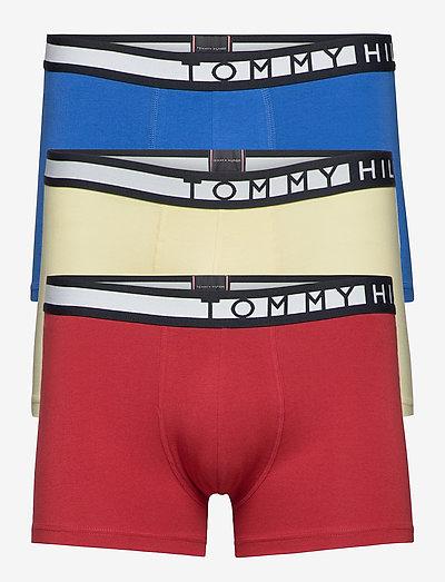 3P TRUNK - boxers - frost lmn/regata red/th elctc blue