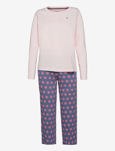 SET LS JERSEY PANT PRINT - nachtkleding & lounge wear - pale pink/maxi polka