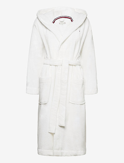 HOODED BATHROBE - aamutakit - classic white