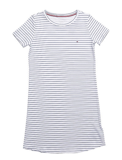 SS DRESS STRIPE - WHITE