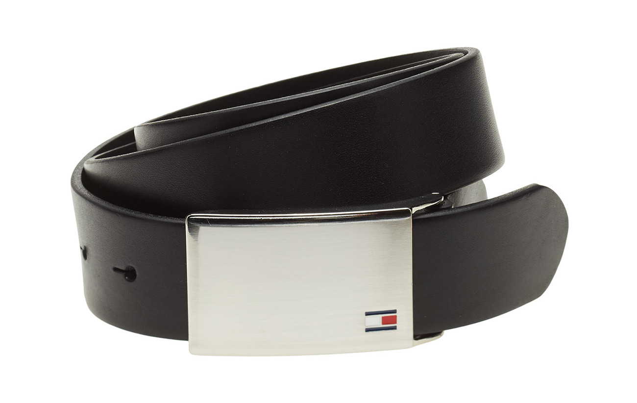 Tommy Hilfiger TH PLAQUE BELT 3.5 A - BLACK