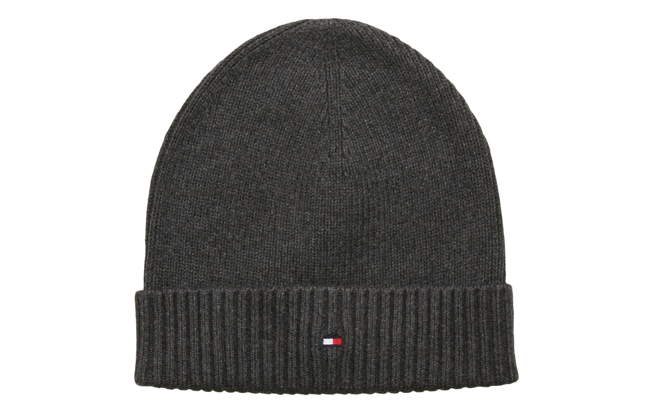 Tommy Hilfiger PIMA COTTON BEANIE - DARK GREY MELANGE