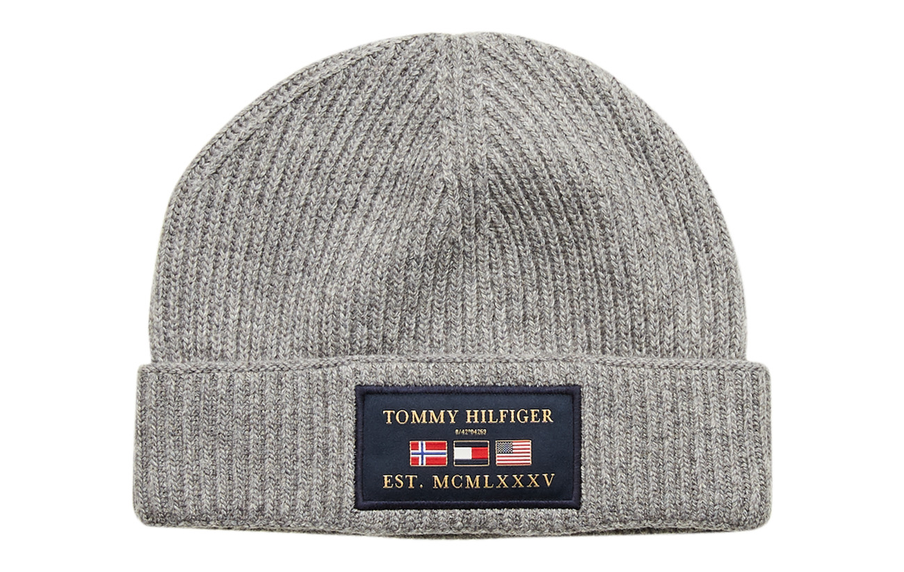 Tommy Hilfiger OUTDOORS PATCH BEANI - MID GREY MELANGE