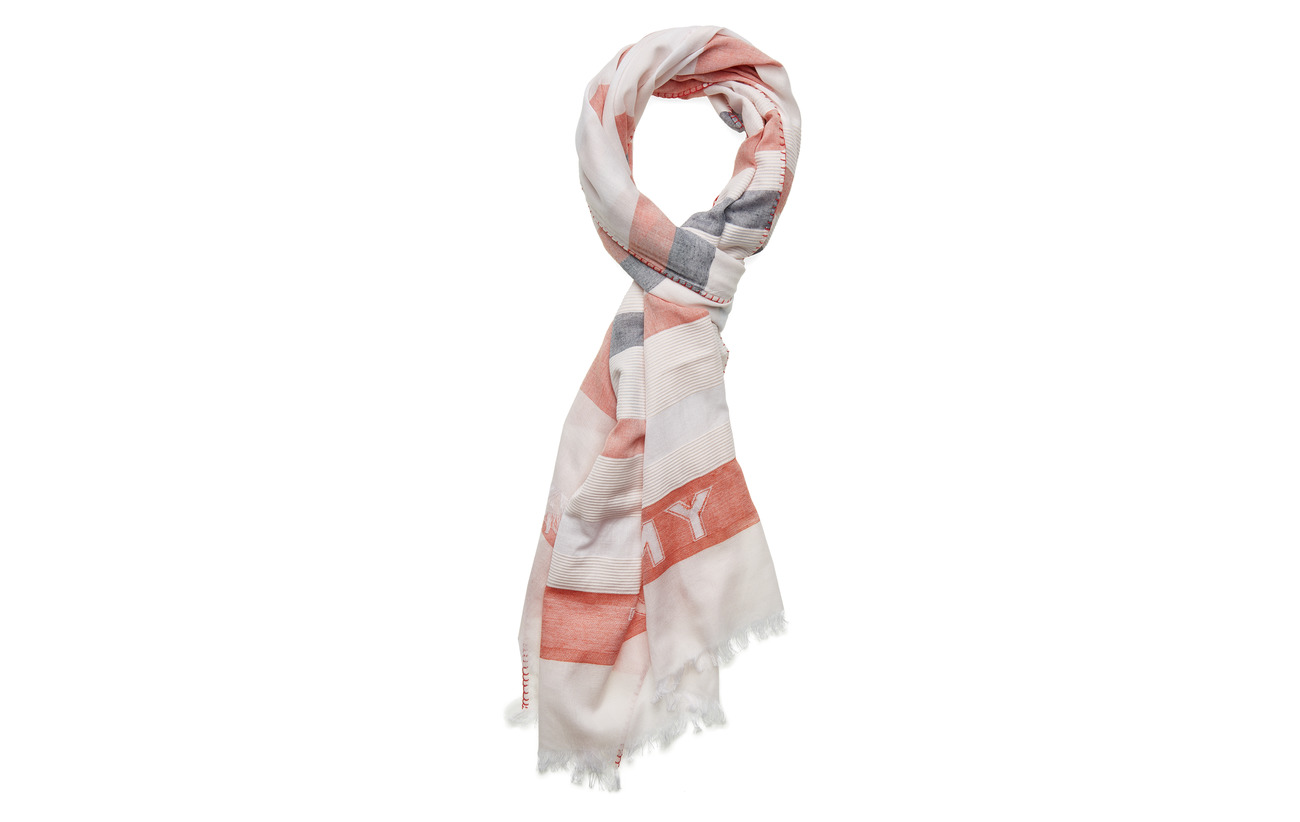 Tommy Hilfiger TOMMY NATURAL SCARF - ORANGE MIX