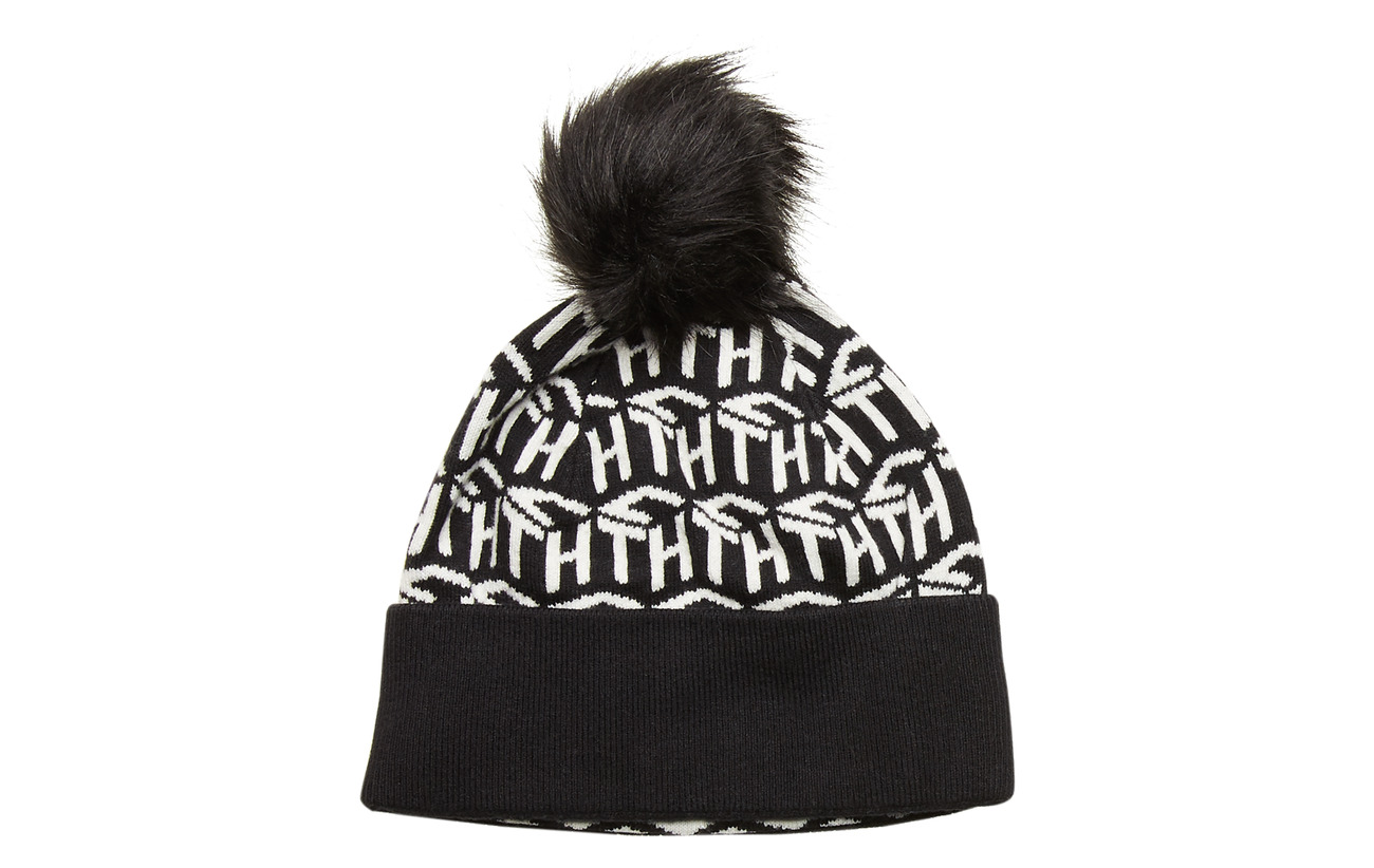 Tommy Hilfiger TH CUBE KNIT BEANIE - BLACK / WHITE