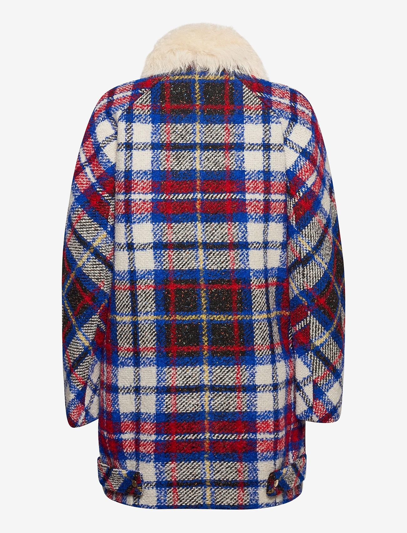 Tommy Hilfiger - TARTAN LONG BIKER JKT - wool jackets - snow white / multi - 1