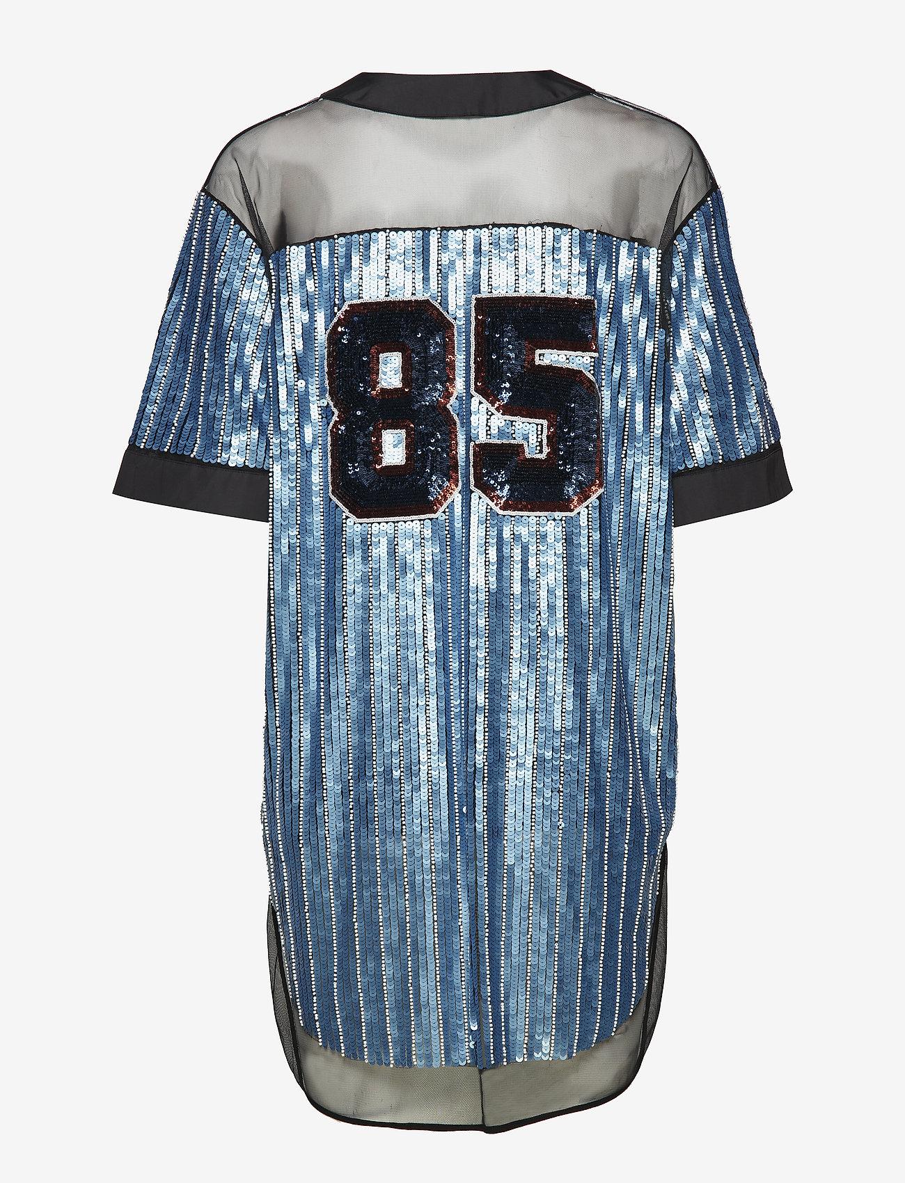 Tommy Hilfiger - SEQUINED BASEBALL SHIRT DRESS SS - t-skjortekjoler - forever blue / multi - 1