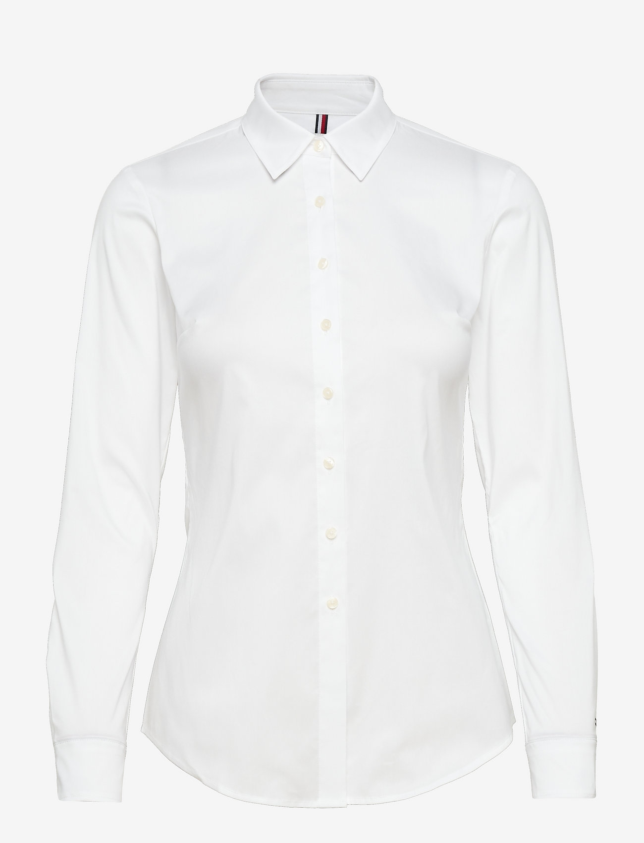 Tommy Hilfiger - AMY STR SHIRT LS W1 - long-sleeved shirts - classic white - 0